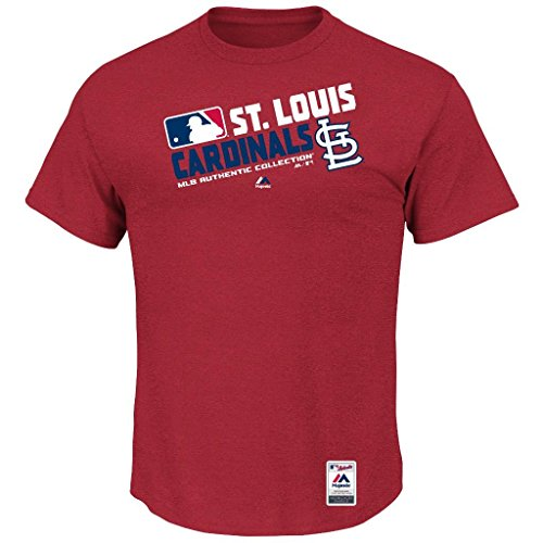 MLB Men's Authentic Collection Team Choice T-Shirt (Small, St. Louis Cardinals)