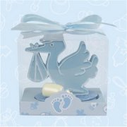De Yi 21008-BL Baby Shower Stork and Bottle Favors in Blue