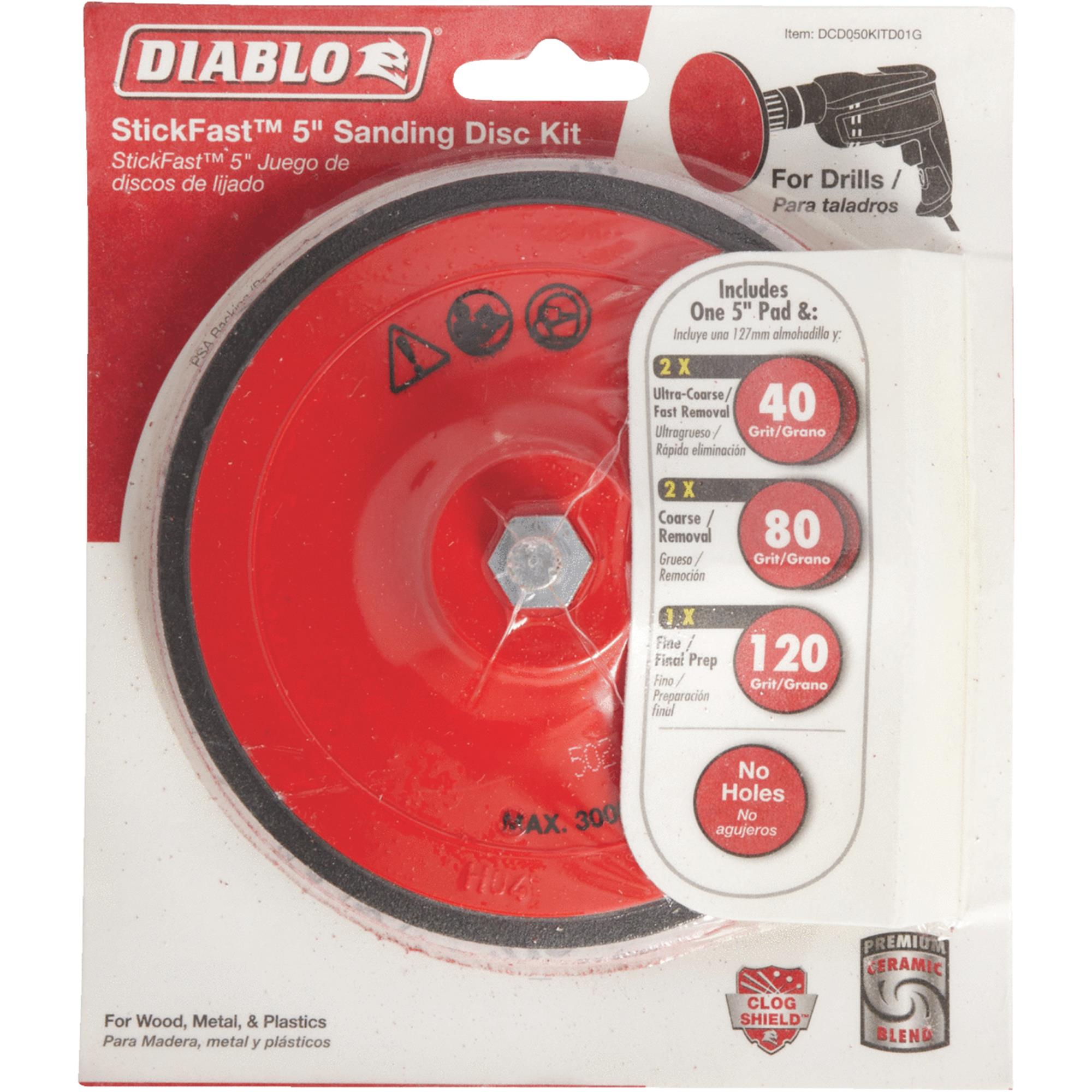 Diablo StickFast Sanding Disc Kit