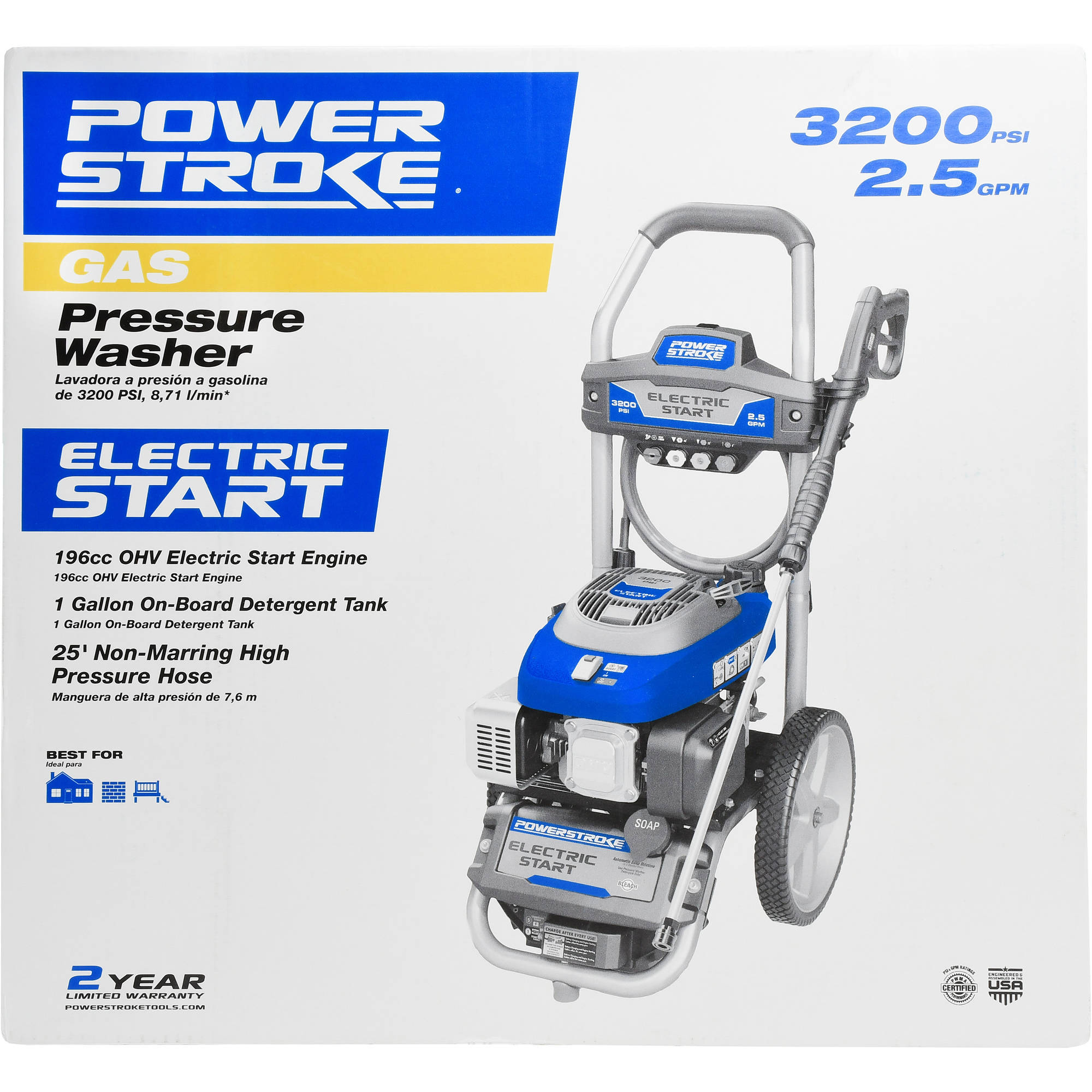 Powerstroke Electric Start 3200PSI Gas Pressure Washer