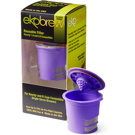 Ekobrew Reusuable K Cup Coffee Filter Violet Walmart Com