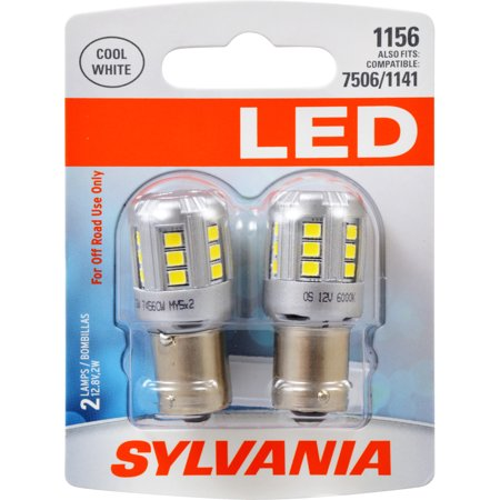 SYLVANIA 1156 WHITE SYL LED Mini Bulb, Pack of 2