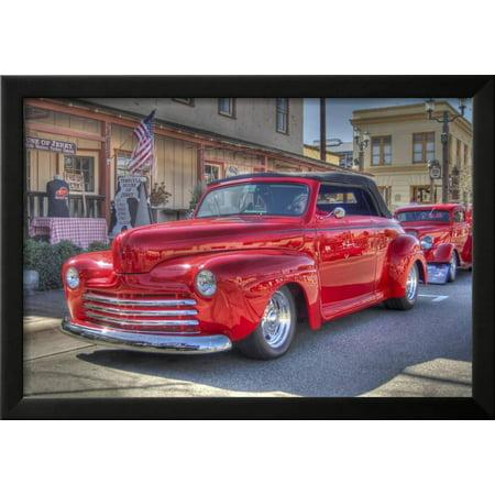 Vintage Car Framed Print Wall Art By Robert Kaler - Walmart.com