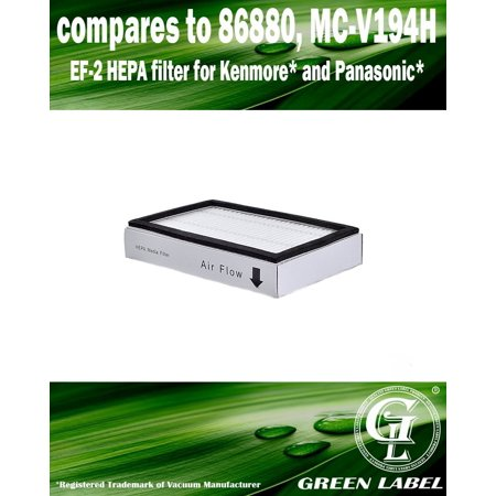 For Panasonic Exhaust HEPA Vacuum Filter (compares to MC-V194H). Genuine Green Label Product.