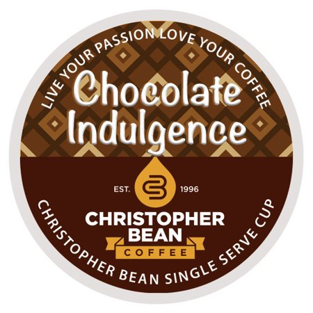 Chocolate Indulgence Single Cup Coffee Christopher Bean Coffee, For Keurig Brewers ( 18 Count (Best Bean To Cup)