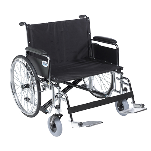 Drive Medical Sentra EC Heavy Duty Wheelchair with Detachable Full Arm and Swing Away Footrests, 30 inch Seat
