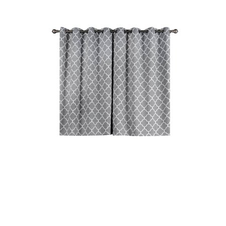 BalsaCircle 52 x 64-Inch Lattice Design Curtains Drapes Panels Window Treatments - Home Decorations