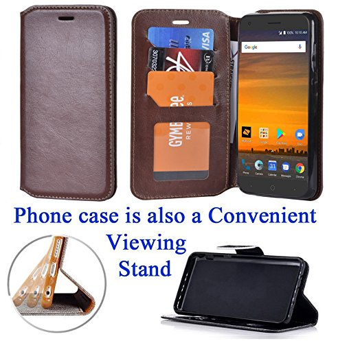 """for 5.5"""" ZTE BLADE X bladeX Case Phone Case Designed Wallet Grip Grained Fold Kick Stand Hybrid Pouch Card Pocket Purse Screen Flip Cover Butterfly"""