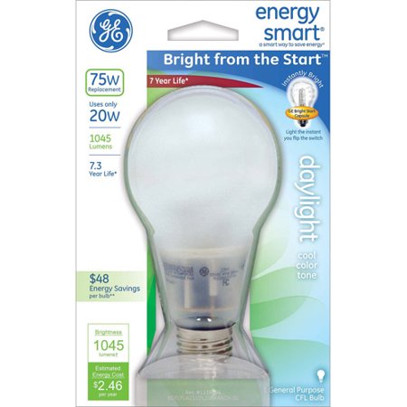 """GE energy smartᅡᆴ Bright from the Start"""" CFL 20 watt A21 1-pack"""