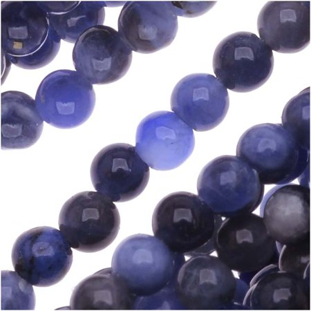Blue Sodalite 3mm Round Beads / 16 Inch Strand (Lapis Color) - Lapis Blue Color