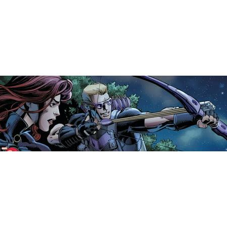 - Avengers Assemble Style Guide: Black Widow, Hawkeye Poster Wall Art