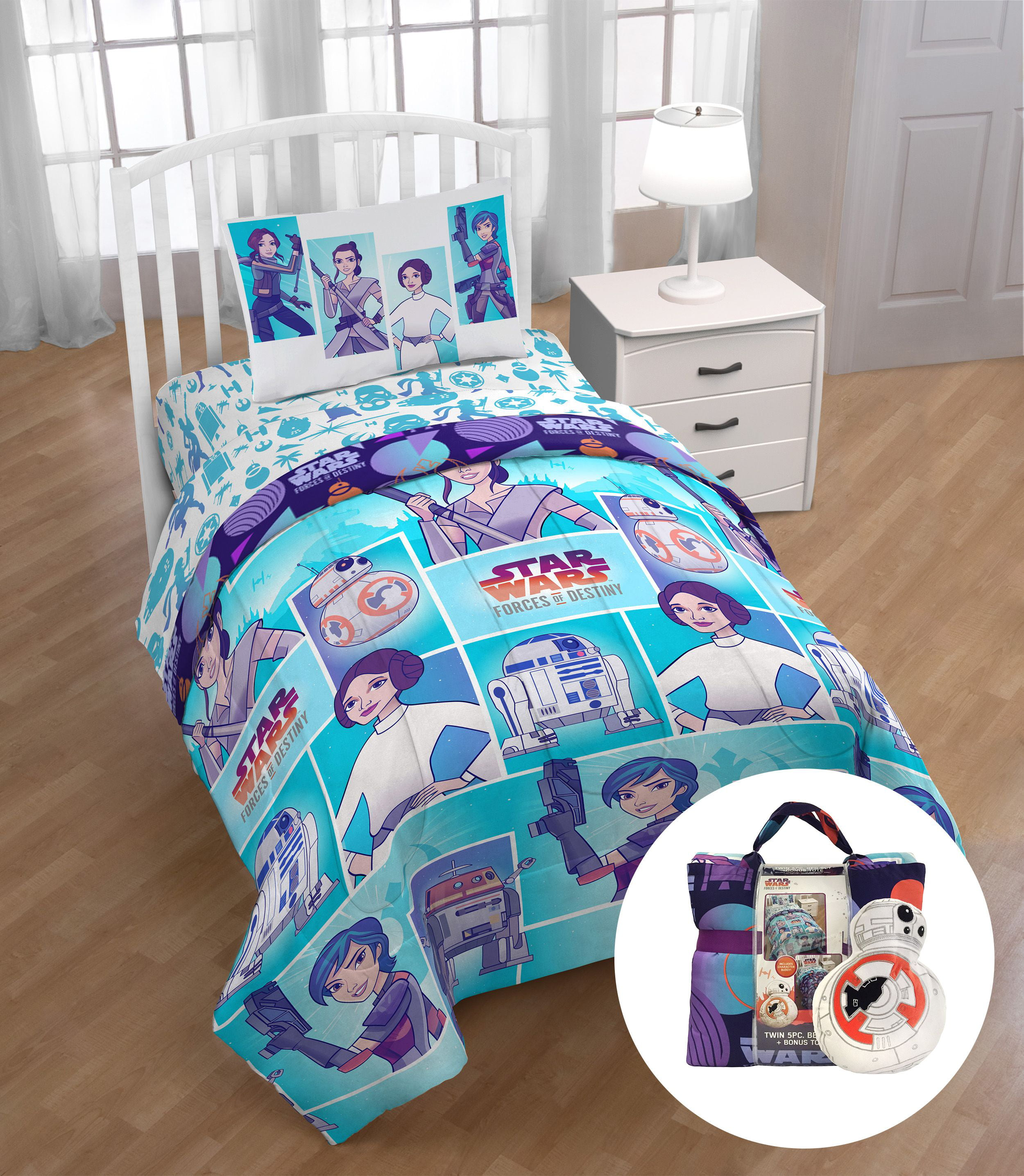 Star Wars Forces Of Destiny Twin Bed Set With Bonus Tote
