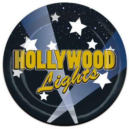 - The Beistle Company Awards Night Hollywood Lights Paper Dessert Plate