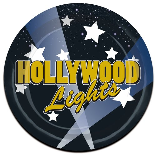 The Beistle Company Awards Night Hollywood Lights Paper Dessert Plate