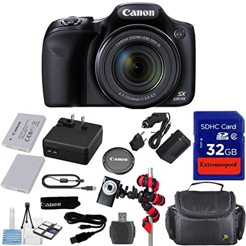 Canon Powershot SX530 HS 16.0 MP Digital Camera with 50x ...