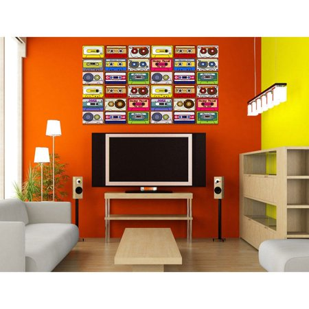 stickalz llc full color decal music cassettes sticker, music wall