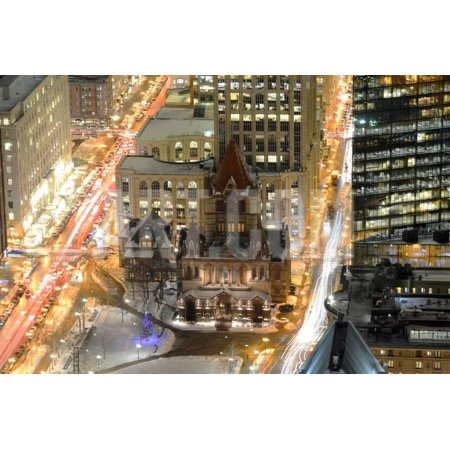 Church Boston Halloween Party (Boston Trinity Church at Night, USA Print Wall Art By)