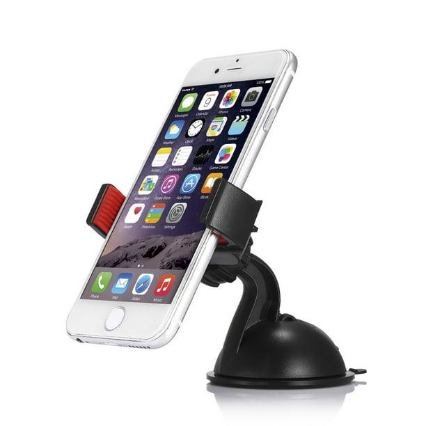 Car Accessories 360°Rotating Phone Windshield Mount GPS Holder Universal Black