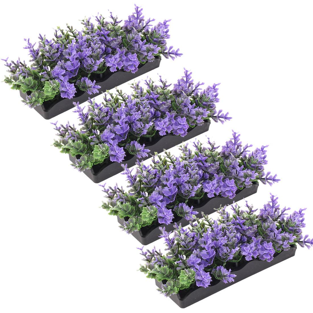 Aquarium Poisson Réservoir Gazon Artificiel en Plastique Ornement Plantes Multicolore 4 pcs - image 3 de 3