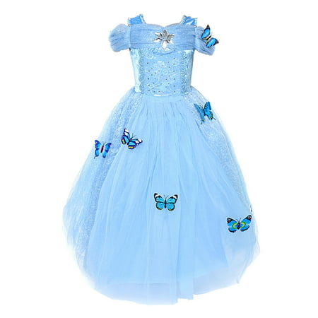 Holloween Gift Cinderella Dress Princess Costume Simulation Butterfly Dress - Cindrella Costume
