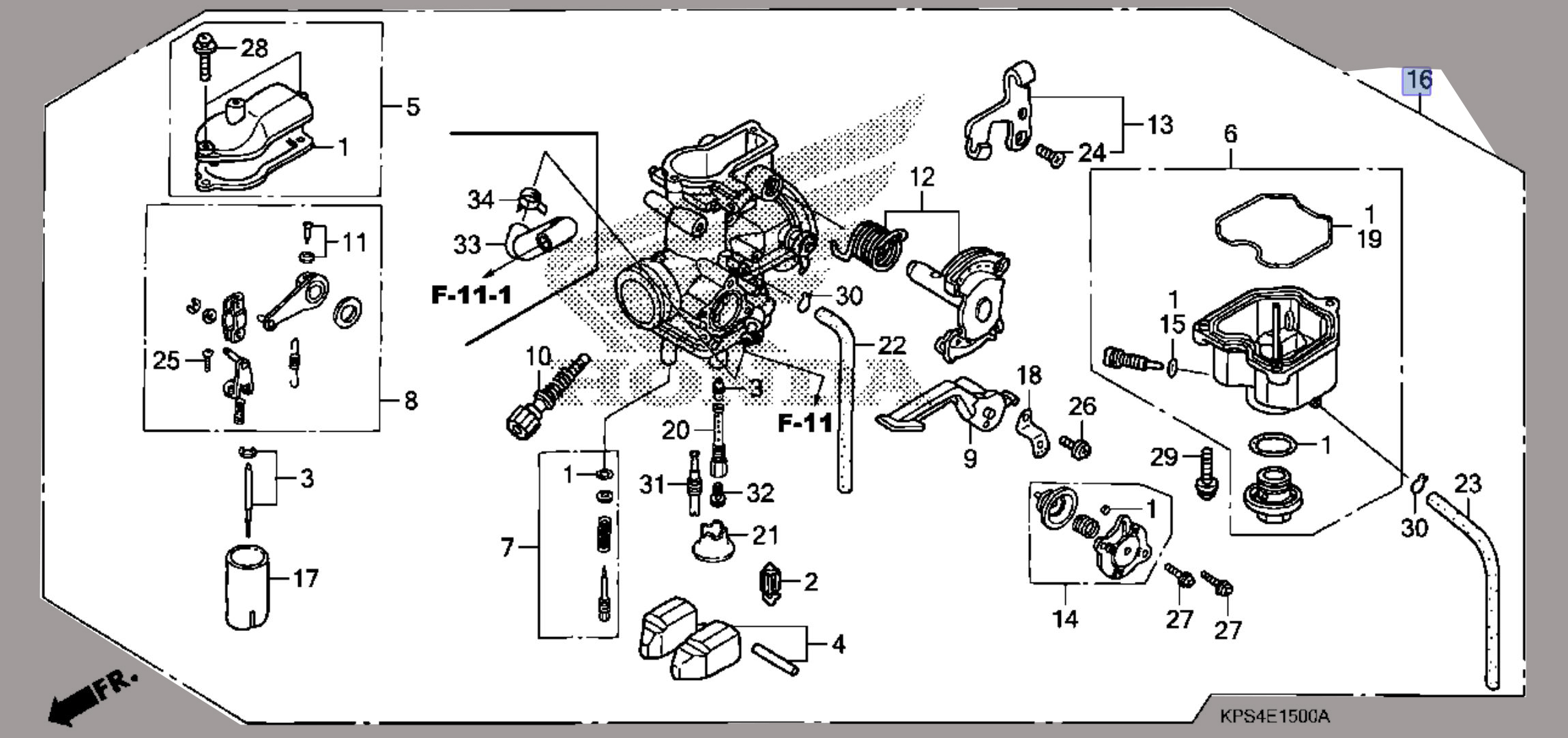 Honda Crf230f Crf 230 F 2003 2005 Carburetor Carb Assembly 16100 Kps