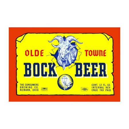 Olde Towne Bock Beer Print (Unframed Paper Print 20x30)