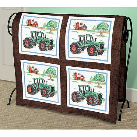 Tractor Quilt Blocks Stamped Cross Stitch, 15
