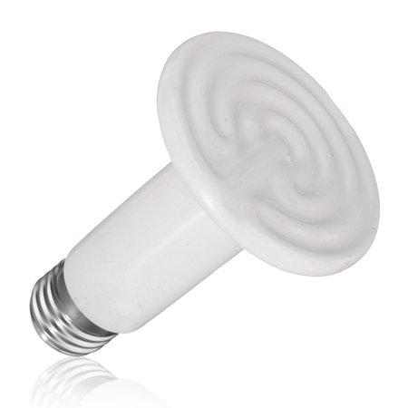 25w 50w 75w 100w 110v Infrared Ceramic Heat Lamp Reptile Emitter Lamp Bulb For Pet Coop Heater