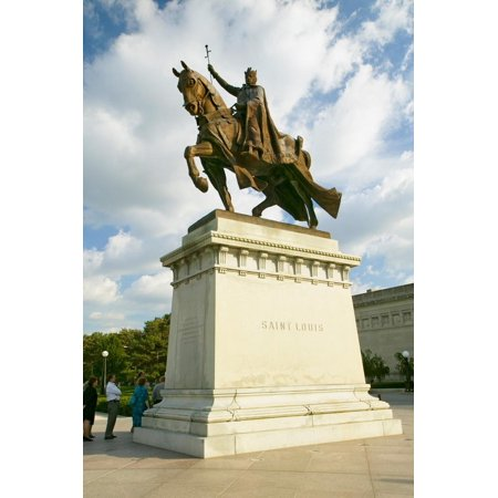 Crusader King Louis IX statue in front of the Saint Louis Art Museum in Forest Park, St. Louis,... Print Wall (Mall In Saint Louis)