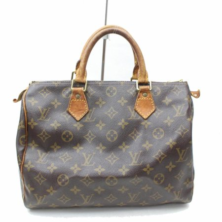 Speedy Monogram 30 869393 Brown Coated Canvas Satchel