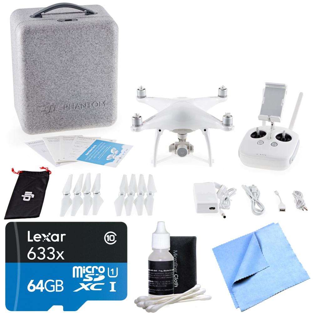 DJI Phantom 4 Quadcopter Drone Lexar High Speed 4K microSD Bundle includes Lexar 64