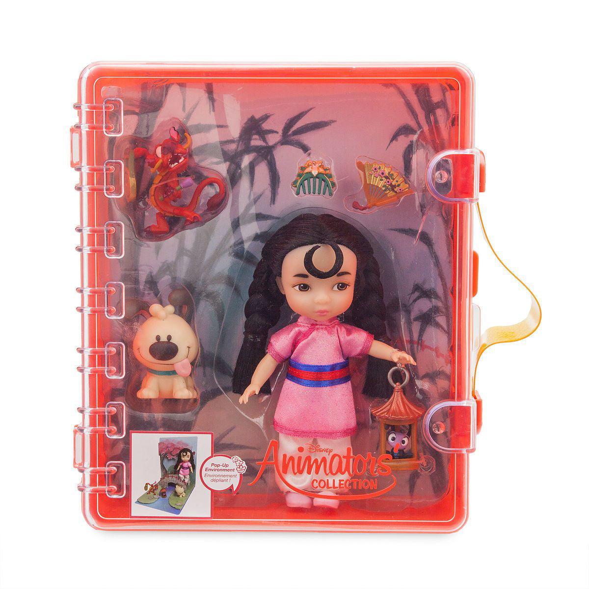 "Disney Store  Animators Collection  5/""  Mini MULAN  Doll Animator/'s Playset  NEW"