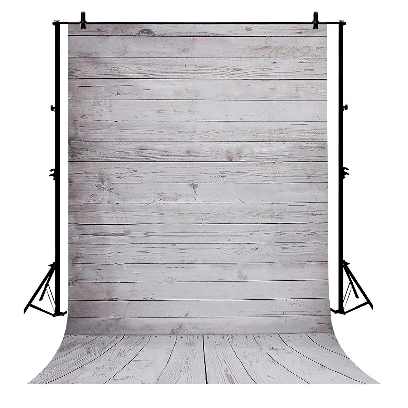 GCKG 7x5ft White Wood Floor Polyester Photography Backdrop Studio Prop Photo Background - image 4 de 4