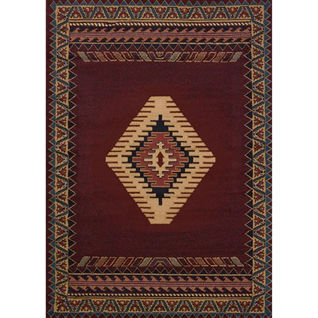 Burgundy Ivory Rug - United Weavers Brunswick Avalon Woven Olefin Scatter Rug