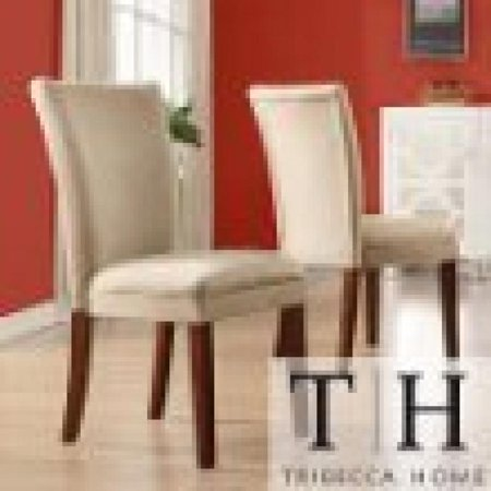 metro shop tribecca home parson classic peat microfiber side chairs