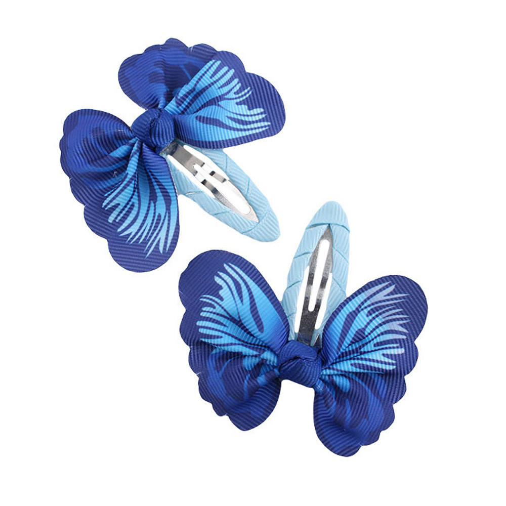 1 Pair Fashion Baby Girls Hair Accessories Bowknot Butterfly Hairpin Headdress