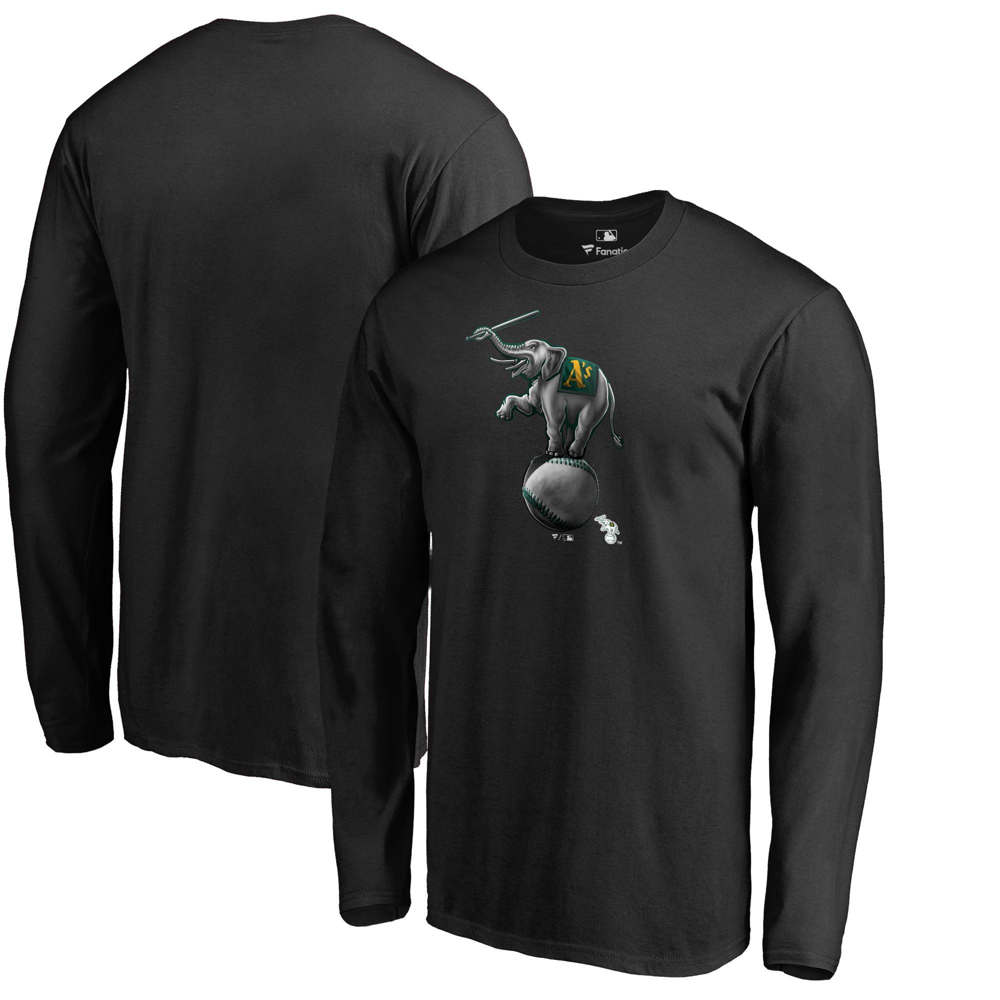 Oakland Athletics Fanatics Branded Big & Tall Midnight Mascot Long Sleeve T-Shirt - Black