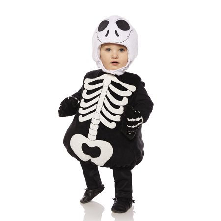 Skeleton Boys Toddler Belly Baby Plush Gothic Halloween Costume