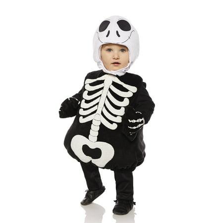 Skeleton Boys Toddler Belly Baby Plush Gothic Halloween Costume - Baby Gothic