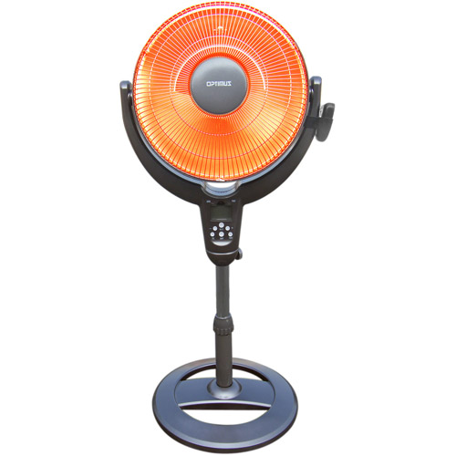 "Optimus 14"" Oscillating Pedestal Dish Heater with Remote HEOP4501"
