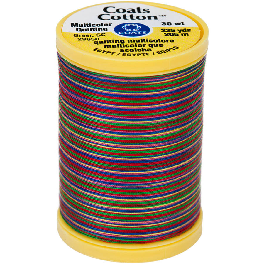 Cotton Machine Quilting Thread, Multicolor 225yd, Over The Rainbow