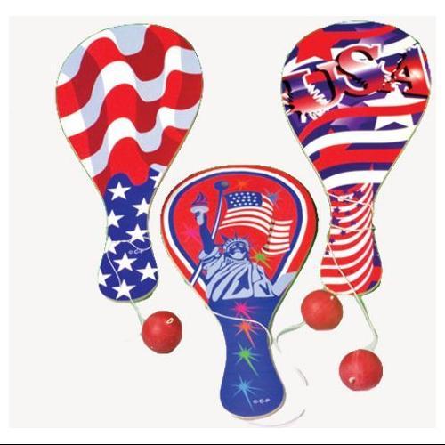 US TOY 1408 Patriotic Paddle Balls
