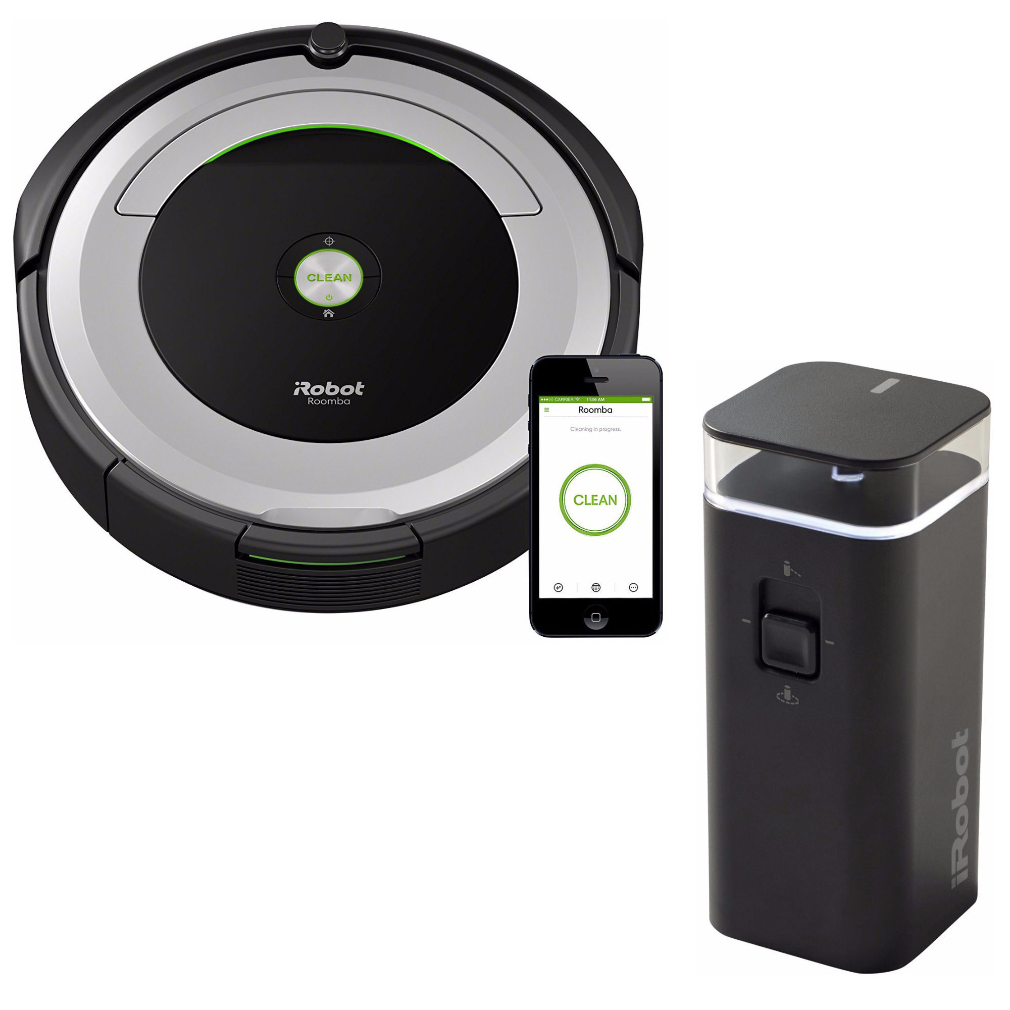 iRobot Roomba 690 Wi-Fi Robotic Vacuum w/Dual Mode Virtual Wall Barrier