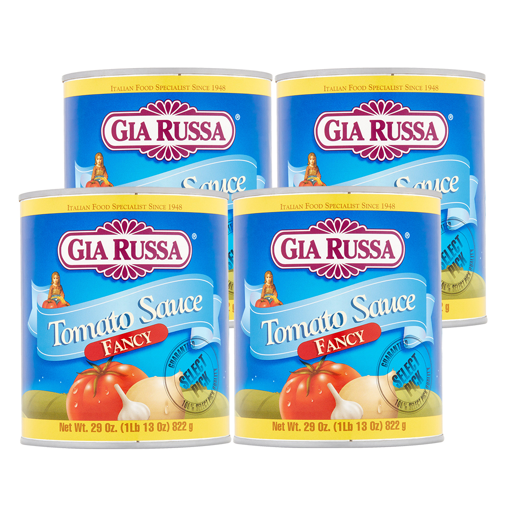 (4 Pack) Gia Russa Fancy Tomato Sauce, 29 oz