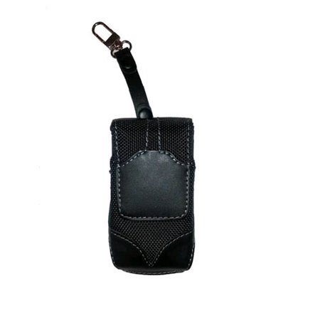 WAU Titan Vertical Leather & Nylon Pouch with Swivel Belt Clip for Motorola V3m - Black - image 1 of 1