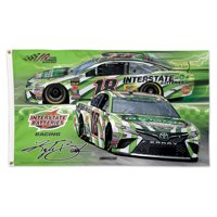 Kyle Busch WinCraft Interstate Batteries Deluxe One-Sided 3' x 5' Flag - No Size