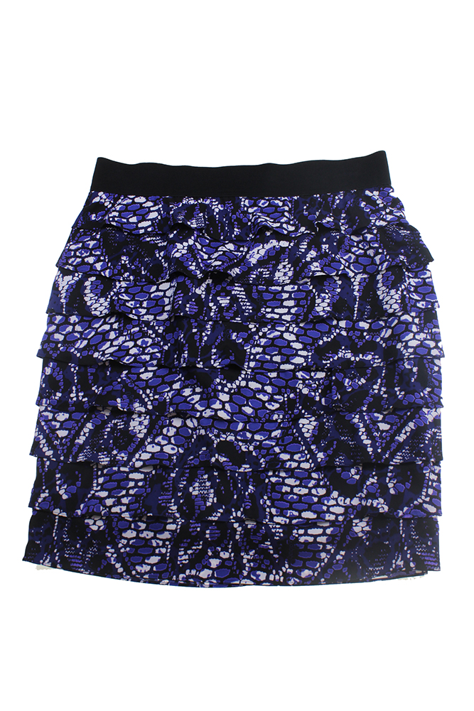 c76798fed86 Alfani - Alfani Blue Plus Size Tiered Pencil Skirt W - Walmart.com