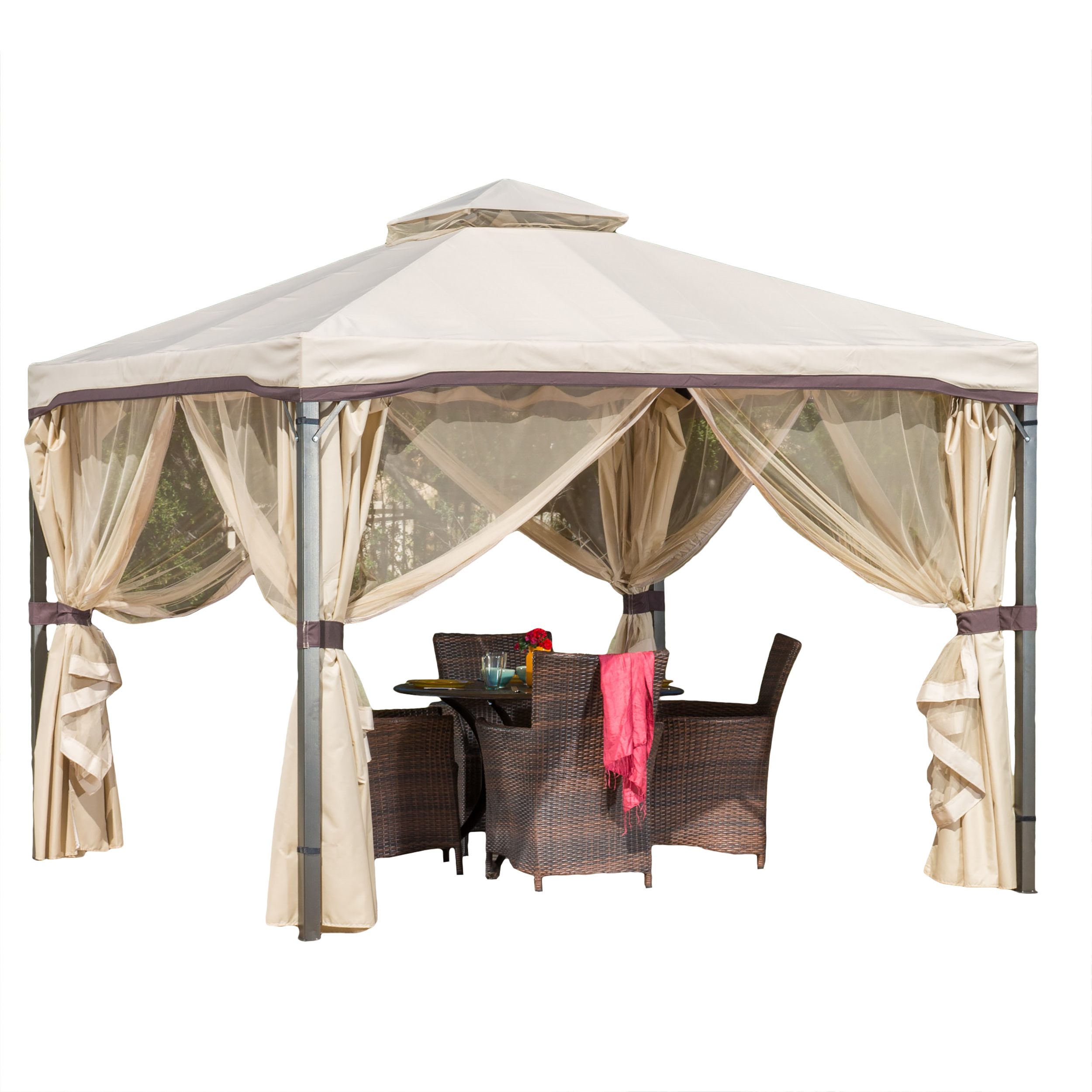 Sunset Beige Outdoor Gazebo Canopy by NFusion