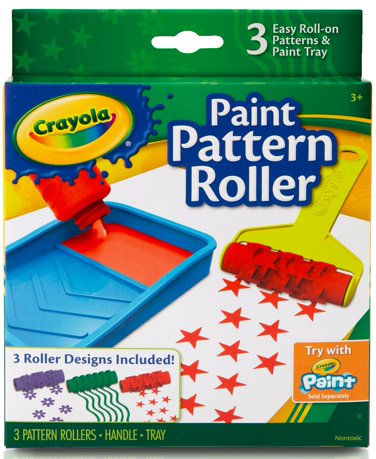 crayola paint pattern roller. Black Bedroom Furniture Sets. Home Design Ideas