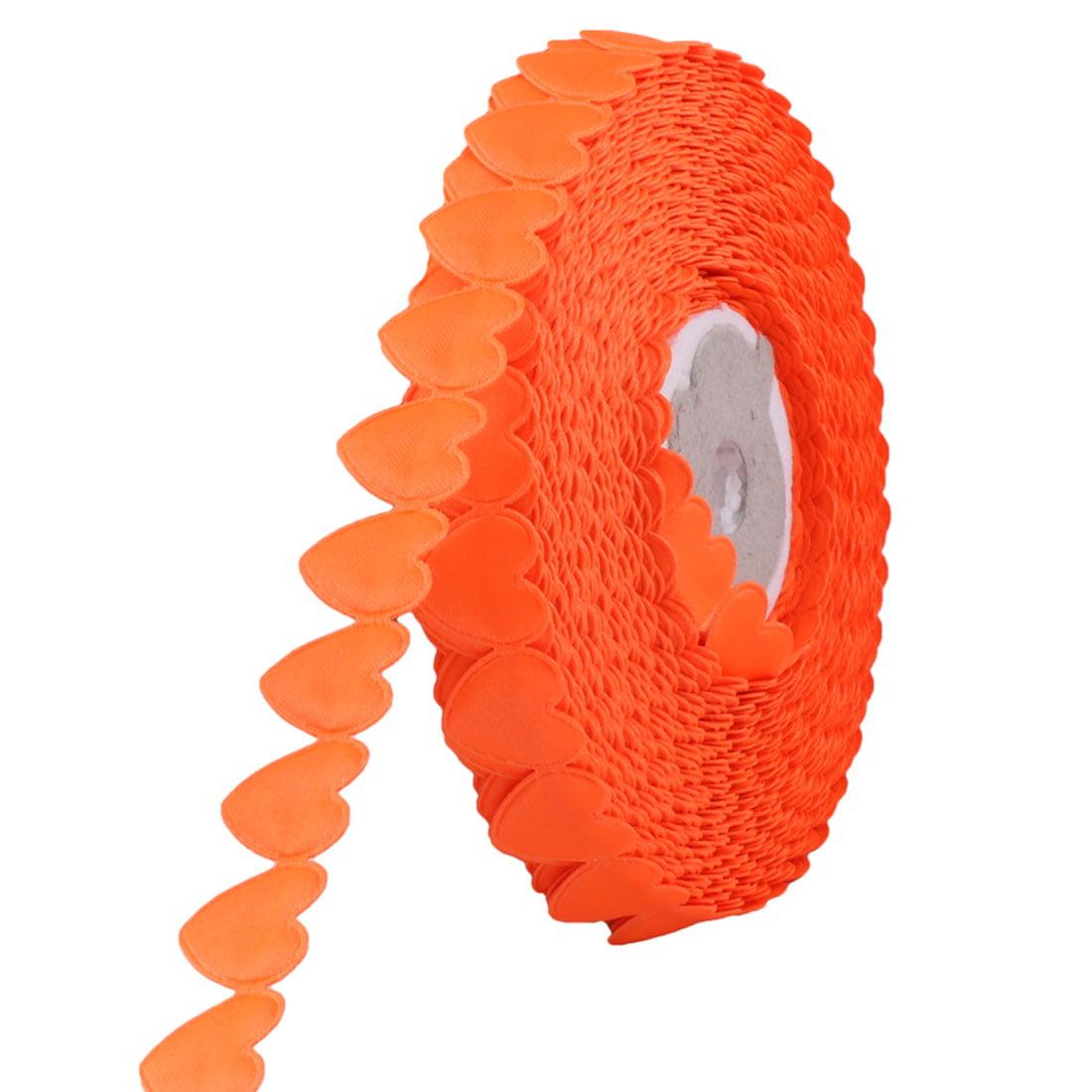 Festival Polyester DIY Gift Cake Decor Craft Ribbon Roll Orange 20 Yards Length
